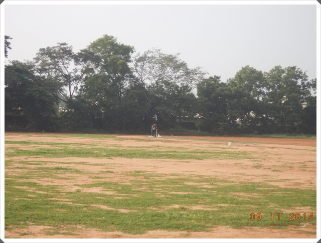TTRC-CCC Moments before the match - Marker in the Pitch