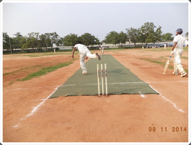 TTRC-CCC Bowler and Batsman in action