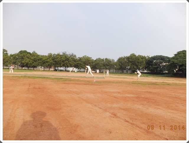 TTRC-CCC Batsman, Keeper and Fielder in action