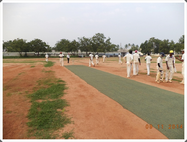 TTRC-CCC Players during a fall of wicket