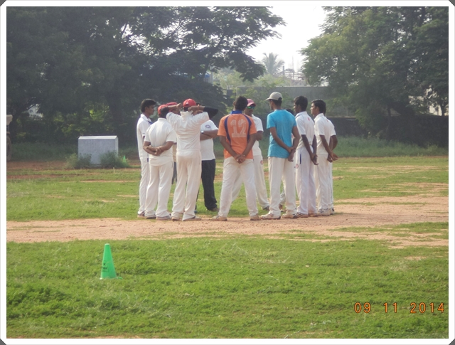 TTRC-CCC Moments before the match - Team Discussion