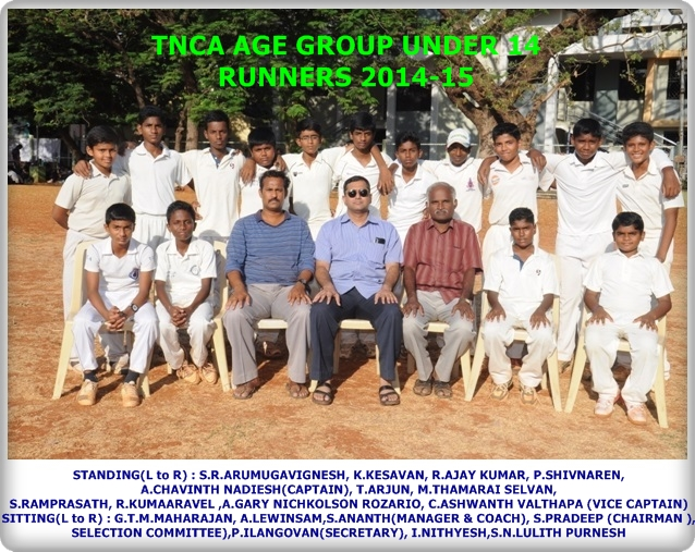 TNCA Under 14 Runners 2014-15