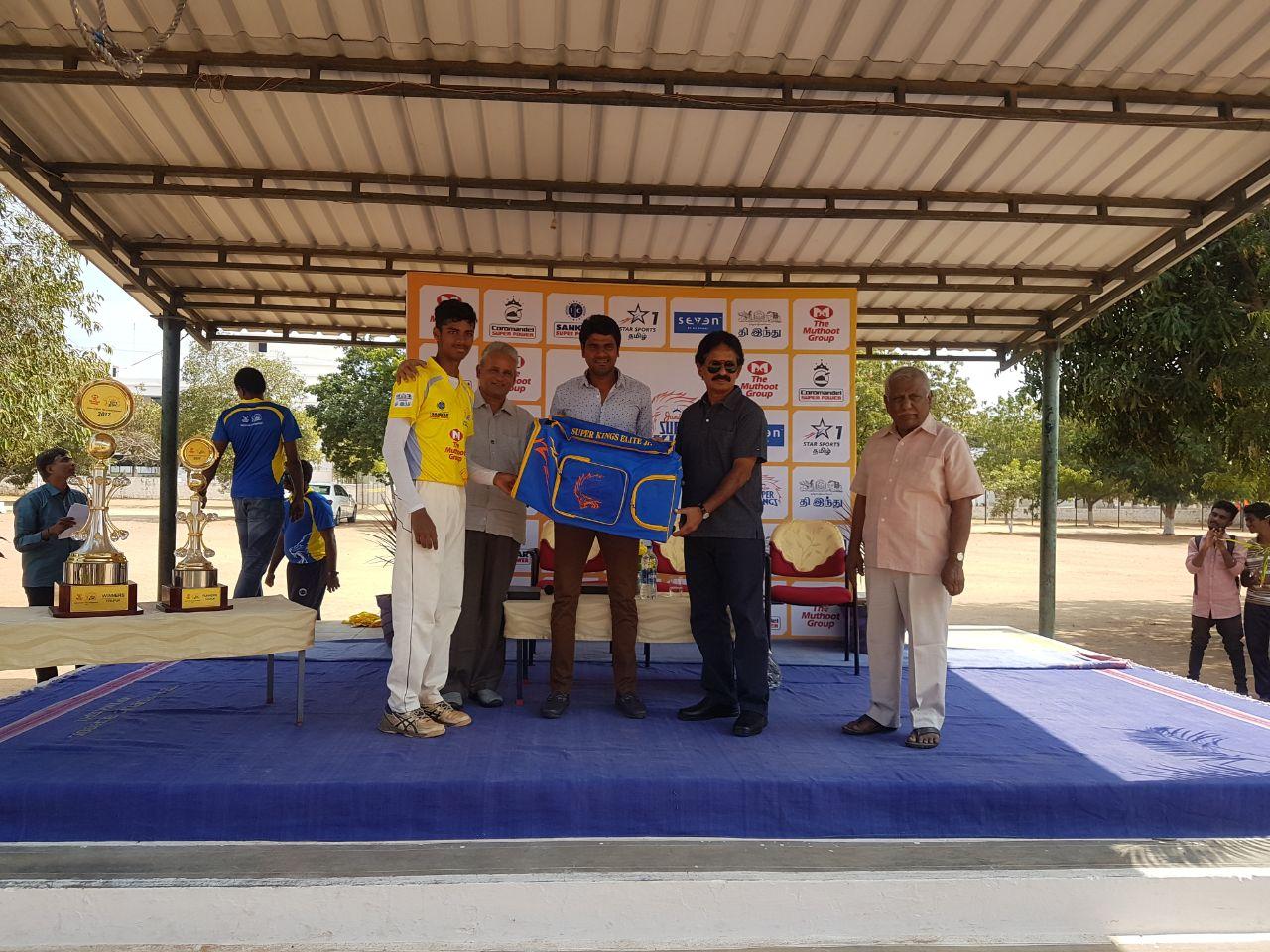 Player of the Tournament: R.E Ritheesh, AKR Academy School (CBSE)