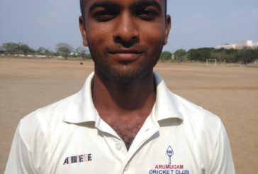 Keerthiraj starred for Arumugam CC