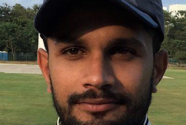Shoaib Mohammed Khan batting on 140*